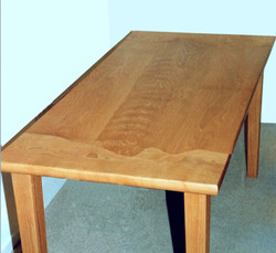 Curved line beech dining table