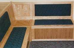 Reception seating in ash