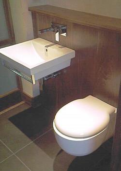 Walnut fitted bathroom