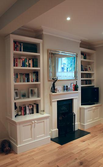 Bespoke living room alcove units