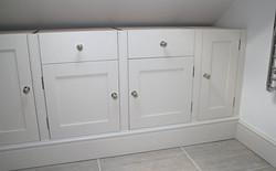 Bathroom cabinets (awaiting stone tops)