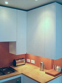 Bespoke kitchen with ultra-slim cupboards