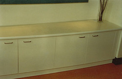 Lacquered reception cupboards