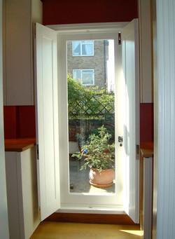 Glazed terrace door