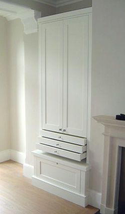 A bespoke alcove unit for the living room