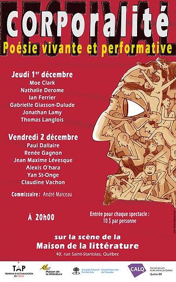 Affiche Corporalité 2016 - TAP