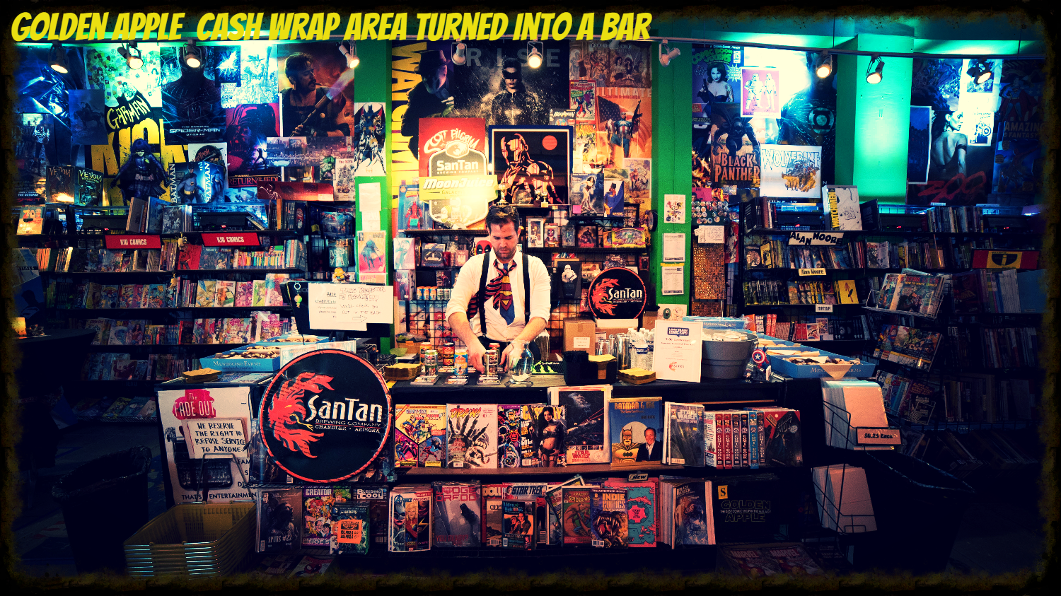 Golden Apple Comics Bar