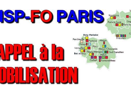 l'UISP-FO PARIS Appel à la MOBILISATION GENERALE
