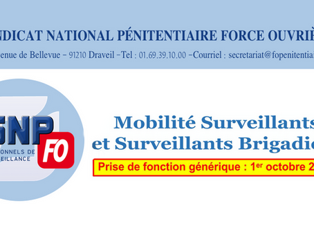 Flash-inFO CAP Surveillants et Brigadiers 2020
