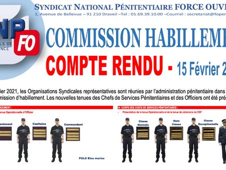 Commission Habillement : Compte-rendu du 15 février 2021