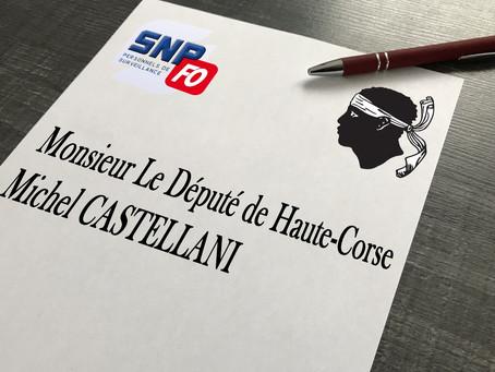 Lettre du SLP-FO Ajaccio au Député de Haute corse Michel Castellani
