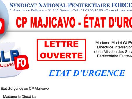 Prison de Majicavo : ETAT D'URGENCE. Lettre Ouverte à la DISP Outre-Mer