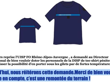 UISP-FO Rhone-Alpes-Auvergne : Généralisation du gilet pare-lame. FO réitère sa demande de tee-shirt
