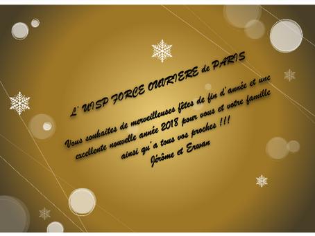 L'UISP-FO de Paris vous souhaites de merveilleuses fêtes de fin d'année