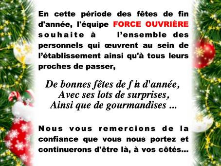 Prison d'Avignon-Le-Pontet : L'année 2020 s'achève...Bonnes fêtes à toutes et tous !
