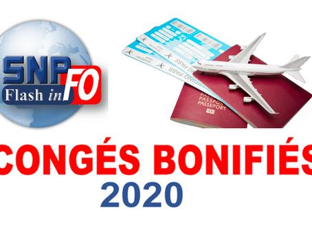 CONGÉS BONIFIÉS 2020