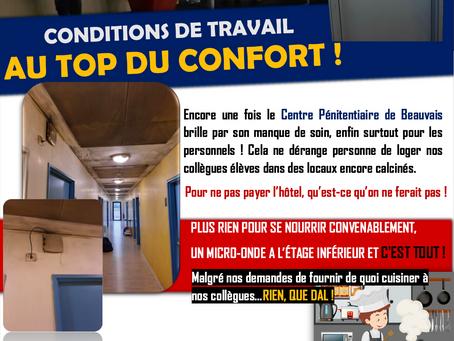 Prison de Beauvais : Conditions de travail AU TOP DU CONFORT !