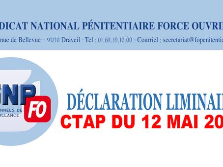 Déclaration Liminaire lors du CTAP du 12 mai 2020