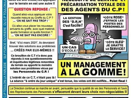 Prison de Toulon-la-Farlède : Brouillon de C.T à effacer des mémoires !