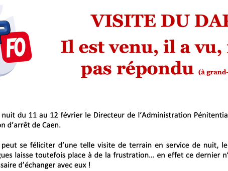 Prison de Caen : Visite du DAP, Il est venu, il a vu, il n'a pas répondu !