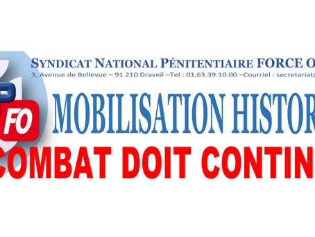 Mobilisation Historique : Le combat doit continuer