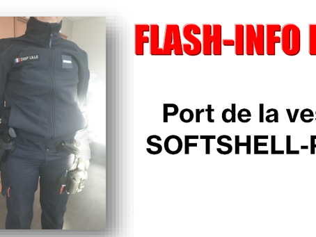 PREJ Hauts-de-France : FLASH-INFO, port de la veste SOFTSHELL-PREJ