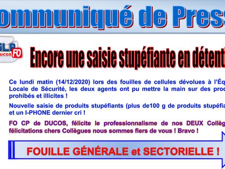 Prison de Ducos : Encore une saisie Stupéfiante en Détention !