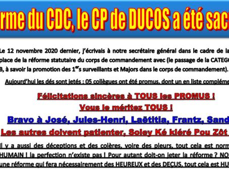 Réforme du CDC, le CP de Ducos a été sacrifié ?