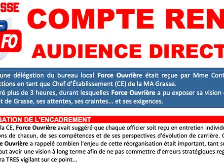 Prison de Grasse : Compte rendu Audience Direction