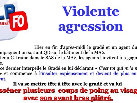 Prison de Bourg-en-Bresse : VIOLENTE AGRESSION