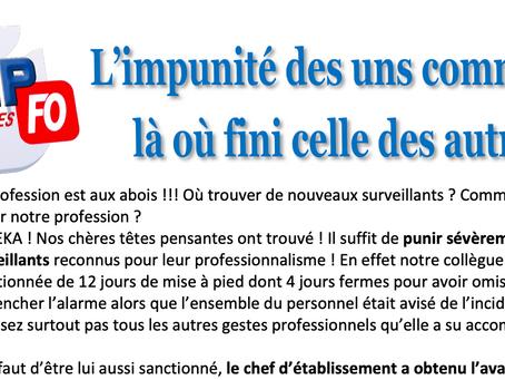 Prison de Bourges : L'impunité des uns commence là où fini celle des autres !