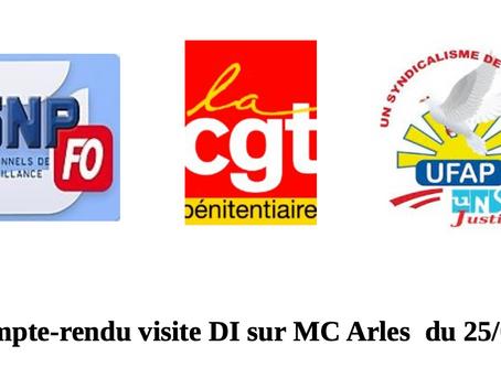 Prison d'Arles : Compte-rendu suite à la visite du DI le 25/08/20