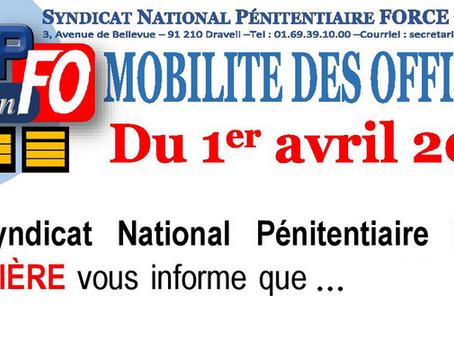 Flash-inFO Mobilité des Officiers du 1er Avril 2020 !