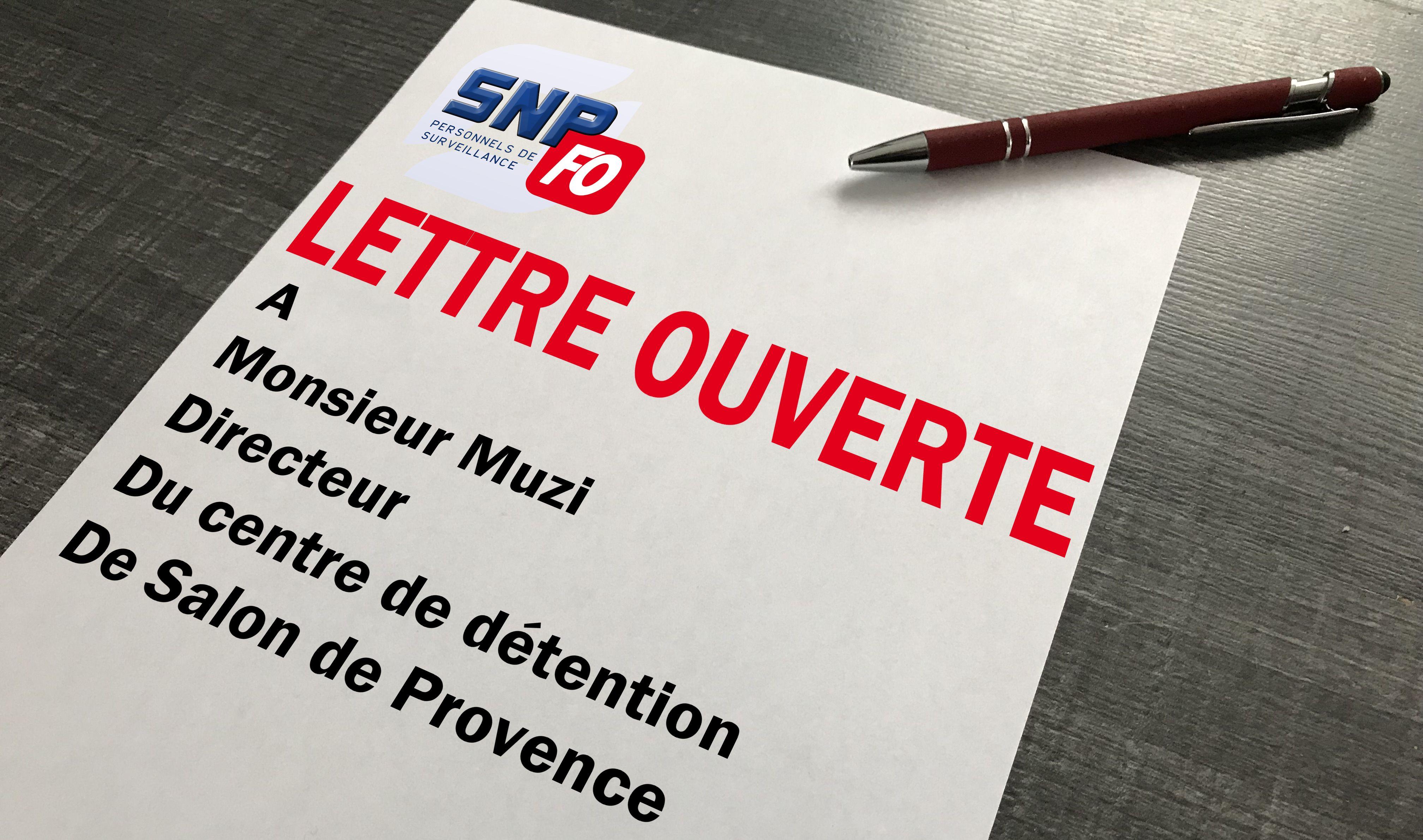 Lettre ouverte monsieur le directeur du centre de - Grille indiciaire surveillant penitentiaire ...