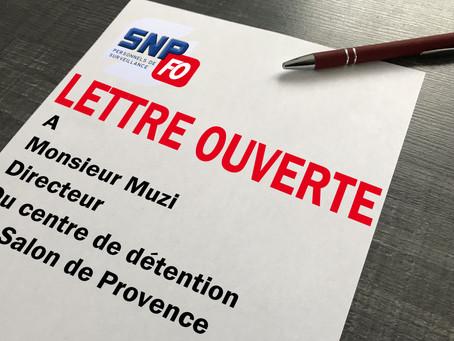 Lettre Ouverte à Monsieur le directeur du centre de détention de Salon de Provence