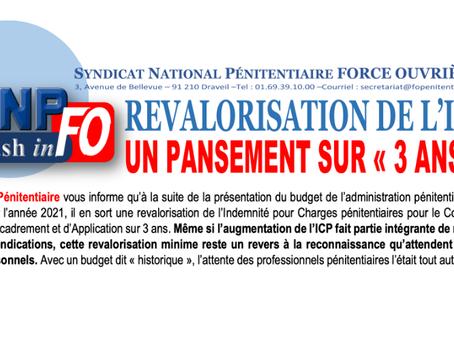 """REVALORISATION DE L'ICP. Un pansement sur """"3 ans"""""""