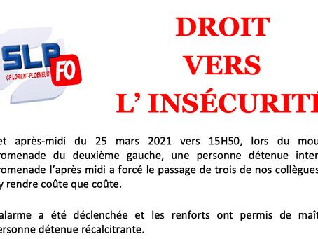 Prison de Lorient-Ploemeur : Droit vers l'insécurité