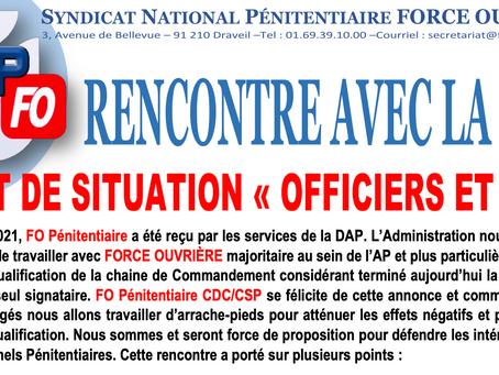 """Rencontre avec la DAP : Point de situation """"Officiers et CSP"""""""