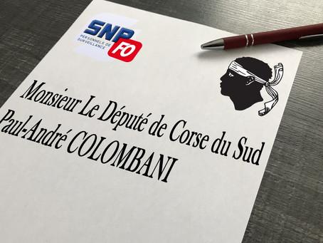 Lettre du SLP-FO Ajaccio à Monsieur le Député de Corse du sud Paul-André Colombani