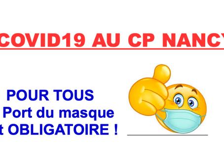 Prison de Nancy : COVID-19 au Centre Pénitentiaire. Pour Tous le port du masque est OBLIGATOIRE !