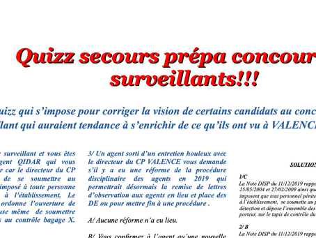 Prison de Valence : Quizz secours prépa concours 1er Surveillants