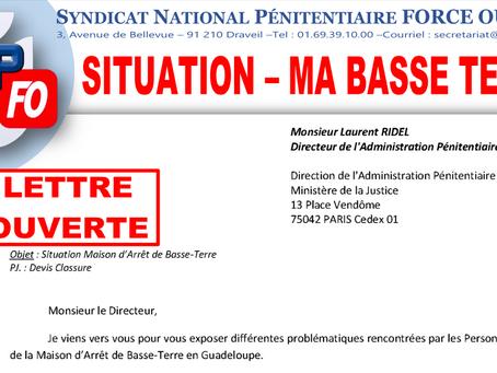 Lettre Ouverte au Directeur de l'Administration Pénitentiaire : Situation de la MA de Basse-Terre