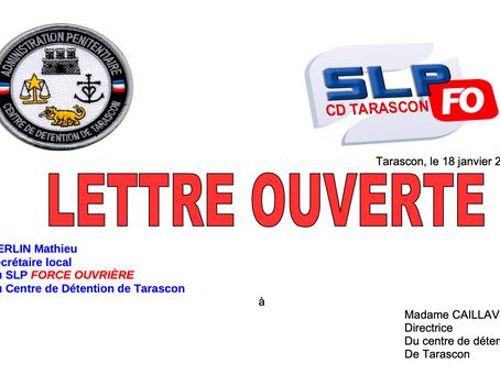 Prison de Tarascon : Lettre Ouverte à Madame la Directrice du Centre de Détention
