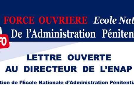 ENAP : Lettre Ouverte au directeur de l'École Nationale de l'Administration Pénitentiaire