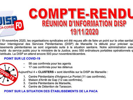 UISP-F0 PACA-CORSE : Compte-rendu réunion d'informations DISP du 19/11/2020