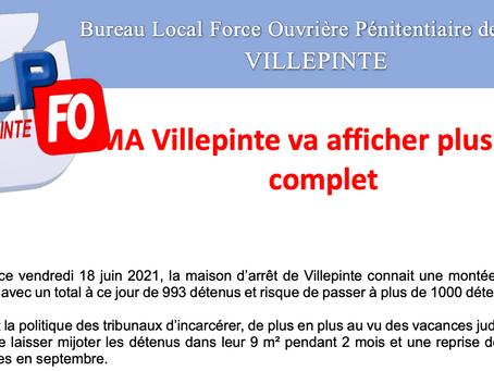 Prison de Villepinte : La maison d'arrêt va afficher plus que complet