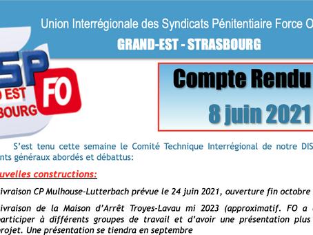 UISP-FO Grand-Est-Strasbourg : Compte Rendu CTI du 8 juin 2021