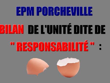 """Prison de Porcheville : Bilan de l'unité dite de """" responsabilité """""""