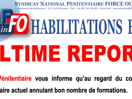 HABILITATIONS ESP : ULTIME REPORT