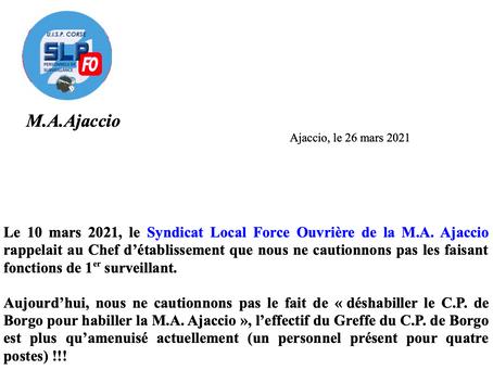 Prison d'Ajaccio : Nous ne cautionnons pas !